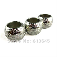 Wholesale Jewellery Pendants Scarf Accessories Silver Round Shape CCB Beads Charm Finding