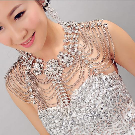 New style epaulet jacket crystal jewelry for wedding for Bracelet for wedding dress