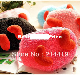 Wholesale Lovely Love Cotton Mask Love Shape Plush Cotton Masks Thermal Breathable Comfort