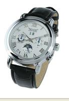 Prezzi Orologi jaragar-NUOVO orologio d'argento in pelle uomini bianchi mens immersione meccanici automatica della data orologi di lusso sportiva JARAGAR