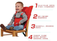Wholesale Children dining chair belt NEW Baby Eat chair Portable Seat belt colors dandys