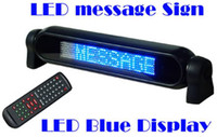Wholesale blue color Car Sign Light Display V LED Message Digital Moving Scrolling With Remote Control