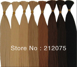 Wholesale 14 quot quot inches g color Various color selection Fashion health Peruvian BULK hair