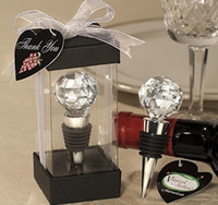 heart bottle opener - Spherical heart CRYSTAL Red Wine Bottle stopper Stopper Exquisite gift box pack
