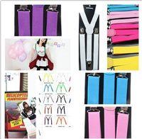Wholesale Popular Unisex Plain Clip on Pants Y back Suspenders Elastic Adjustable Braces