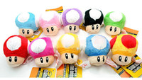 Wholesale Super Mario Bros Mushroom With Key Chain Plush Doll quot Toy colors