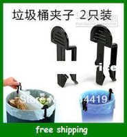 Wholesale Multi function trash bag clip plastic Garbage pick up bucket clips Household goods gifts
