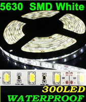 Wholesale Warm White LED Strip meter M SMD pure white rolls Super Bright M Led cool white Flexible Waterproof IP65 V by DHL ship