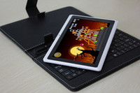 Wholesale 7 inch AllWinner A13 Tablet PC Android Capacitive Screen MB DDR3 Ram GB WIFI Keyboards Cases