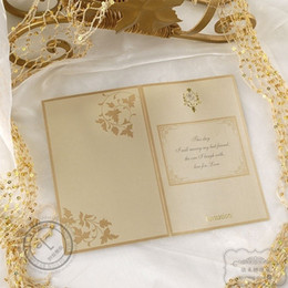 Wholesale 2014 New Wrapamp Pocket Embossed Paper Personalized Super Wedding Invitation Cards Set Of