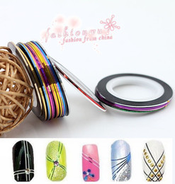Wholesale 30Pcs Mixed Colors Rolls Striping Tape Line DIY Nail Art Tips Decoration Sticker