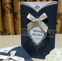 Wholesale 2013 New Modern Blue Personalized Wrapamp Pocket Wedding Invitation Cards Set Of