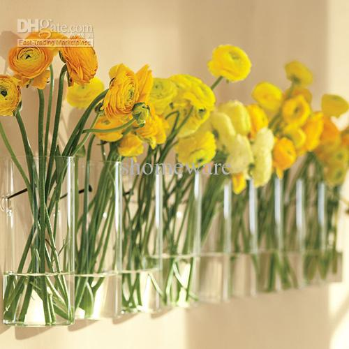Wall Hanging Glass Vase Home Decoration Gwh002 Small Black Vase Home Decoration Pieces