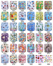 Wholesale Best Deal Cartoon Printed Baby Cloth Nappies Washable With Microfiber Inserts Ananbaby