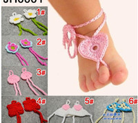 Wholesale baby 0-3Years baby cotton sandals infant hand made shoes children crochet cute shoes jlbgmy