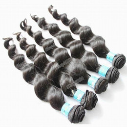 Wholesale Human Hair Weave Brazilian Virgin Black Mix Size Queen Hair Extension Loose Wave HWT101