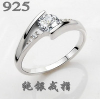 arrow zirconia - Arrows inlay Zircon Sterling S925 Silver Ring With jewelry certificate of authenticity