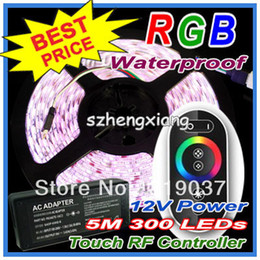 Led Strip Light RGB Waterproof 5050 300 LEDs 5M + RF Touching Wireless Remote Controller + 7A Power