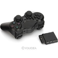 Wholesale Black Ghz Wireless Bluetooth Game Controller for Sony Playstation PS2 Game