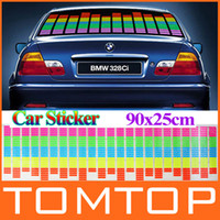 Wholesale 90cm x cm cm x cm Sound Music Activated EL Sheet Car Stickers Equalizer Glow Flash led Light K822 K823