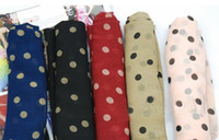 Wholesale All match polka dot shawl scarf wraps cm mixed color