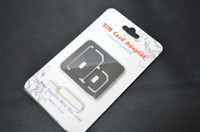 Wholesale Nano SIM Card to Micro Standard in Adapter Adaptor Converter Set For iPhone S ipad samsung nokia