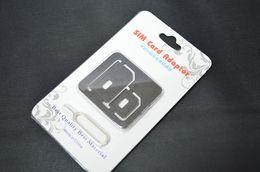 Nano carte SIM vers Micro Standard 4 en 1 adapteur Converter Set pour l'iPhone 5 4S 4 ipad samsung nokia