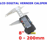 Wholesale 8 quot INCH ELECTRONIC LCD DIGITAL VERNIER CALIPER MICROMETER GUAGE INBOX STAINLESS