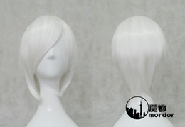 Wholesale 2013 Hot Sale Fashionable Costume Hairstyle white Cosplay Wig for lovely young lady