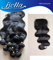 Wholesale Mixed Malaysian Virgin Human Hair Extensions pc Hair Weft pc Lace Closure x4 Hair Weave Body Wave