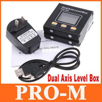 Wholesale High Accuracy High Resolution Digital Protractor Inclinometer Dual Axis Level Box DXL360 free