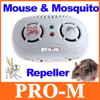 Wholesale 2 in Electronic Ultrasonic Mouse amp Mosquito Repeller Freeshipping Dropshipping
