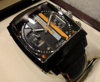 balck watch - 100 Luxury Men s Black quartz Watch Balck Dial Men Leather Sport Watches TA41