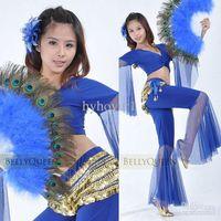 Wholesale Belly dance props belly dancing fan performances show props upscale peacock feather fan