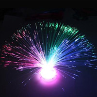 Wholesale fiber optic flowers - 250pcs Colorful holiday optical fiber lamp small night light optical fiber flower LED fiber optic flower
