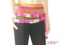 Belly Dancing free size (medium) Sequin New Belly dance hip scarf women wear costumes belly dancing color of love hip scarf sequins tribal b