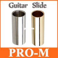 Wholesale 2pcs set Guitar Slides Bass Cylinder Tone Bar Chrome Stainless Steel Metallic I136 Free Dropshipping
