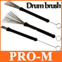 Manual steel drum - Retractable Metal Steel Wire Strands Drum Brushes Sticks Loop End I118 Freeshipping Dropshipping