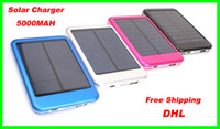 Wholesale Best price DHL colors MAH Solar Battery Panel Charger portable power bank