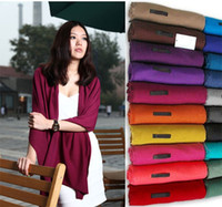 Wholesale Solid color Muffler Cotton Scarf Lovers Shawl Lengthen Bib Scarves