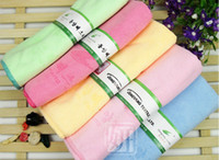 Wholesale Solid color towel microfiber cleaning towel bath towels dry hair Absorbent cm
