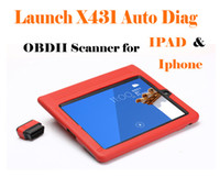 Wholesale Original Launch X431 Auto Diag Scanner for IPAD and iPhone Multi language years warranty DHL Free