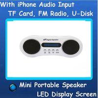 Wholesale Portable Speaker With Micro SD TF Slot USB Mini Speaker Music MP3 Player FM Radio Sound Box Iphone