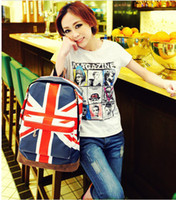 Wholesale England US UK Flag Unisex Backpack Fashion Shoulder Bag Student School Bag Schoolbag H9396