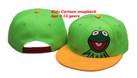 Wholesale Mix order Kids Cartoon Snapbacks Green Hats adult fitted cap Popoular Youth Caps Snap Back