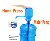 Plastic ECO Friendly  Bottled Drinking Hand Press Water Pump Dispenser freeshipping