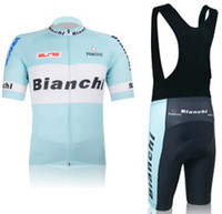 Wholesale 2012 BIANCHI Pro Team men cycling jersey Short shirt and cycling bib shorts outdoor cycling clothing
