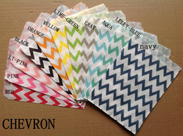 "5""*7"" Wedding Chevron Dot Stripe Favor Bags Candy Paper Goods Bag kraft bags 10000pcs (25pcs opp bag)"