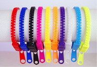 Wholesale 2013 Newest Candy Zipper Bracelet Fashion Bangle Bracelets Unisex Punk Wristbands Jewelry