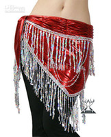 Velour free size (medium) Women Belly dancing belt belly dance hip scarf women wear costumes towel waist tribal stage tassels sequin